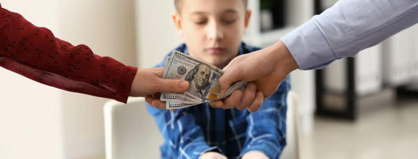 pension de alimentos y custodia compartida